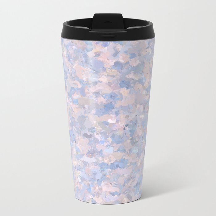 Light pink and blue popcorn 4647 Metal Travel Mug
