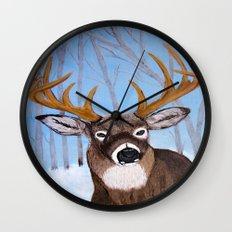 Winter Buck Wall Clock