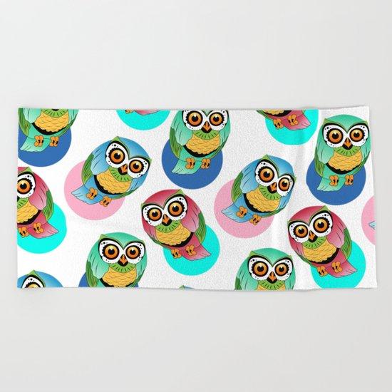 cute birds 2 Beach Towel