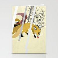 kitsune Stationery Cards featuring Kitsune by ravenguerrero