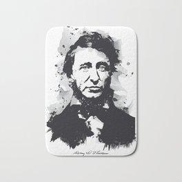 Henry David Thoreau Bath Mat