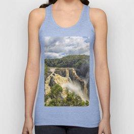 Beautiful wild waterfall Unisex Tank Top