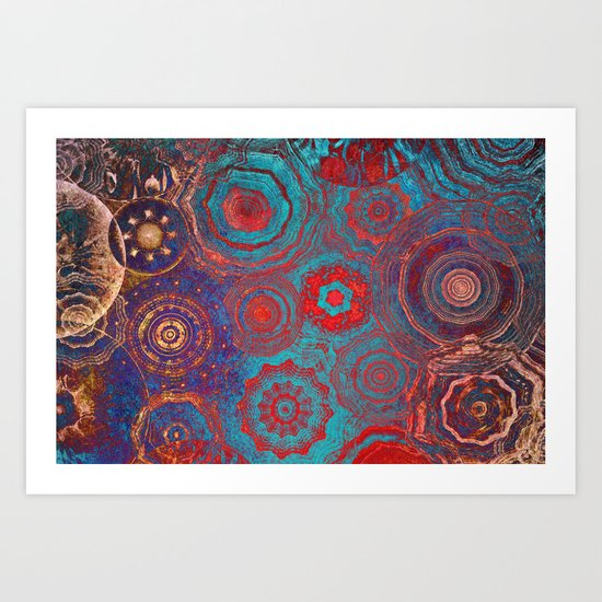 Mysterious Circles Art Print