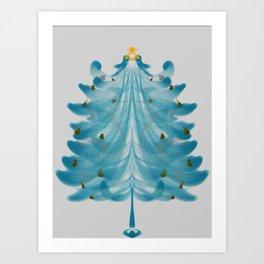 Christmas Tree Blues Art Print