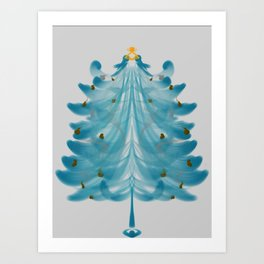 Christmas Tree Blues Art Print