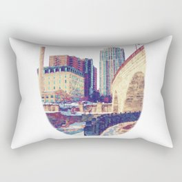 Stone Arch Bridge-Minneapolis, Minnesota Rectangular Pillow