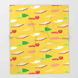 Breakfast Pattern Throw Blanket