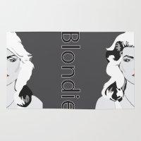 blondie Area & Throw Rugs featuring blondie by Tara Durrant Designs