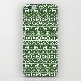 Golden Doodle fair isle christmas pet pattern minimal christmas sweater gifts iPhone Skin