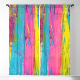 Rainbow Abstract - Summer Nights in Miami Blackout Curtain