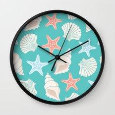 Shells pattern Wall Clock