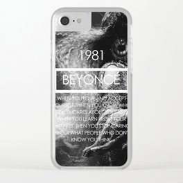 Queen B Clear iPhone Case