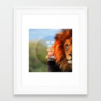 pocketfuel Framed Art Prints featuring BOLD AS LIONS by Pocket Fuel