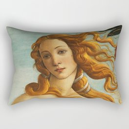 "Sandro Botticelli ""The birth of Venus"" detail (2) Rectangular Pillow"
