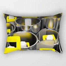 Metal tubes, hexagons and glass Rectangular Pillow