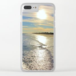 A Sunny Glow Clear iPhone Case