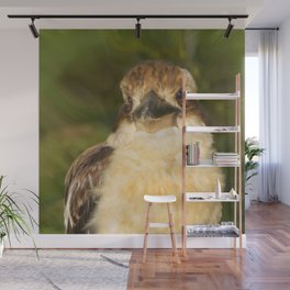Painted laughing kookaburra Wall Mural