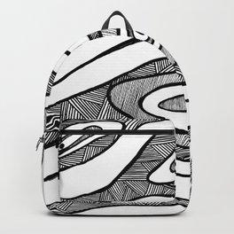 Black Waves Linework Backpack