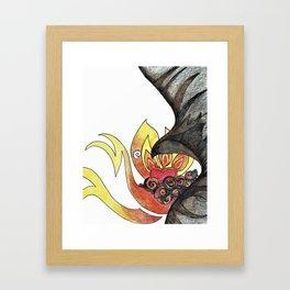 Ash and Flame Framed Art Print