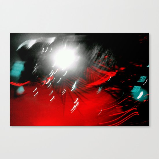 Red Flash with a Little Bit of You Canvas Print