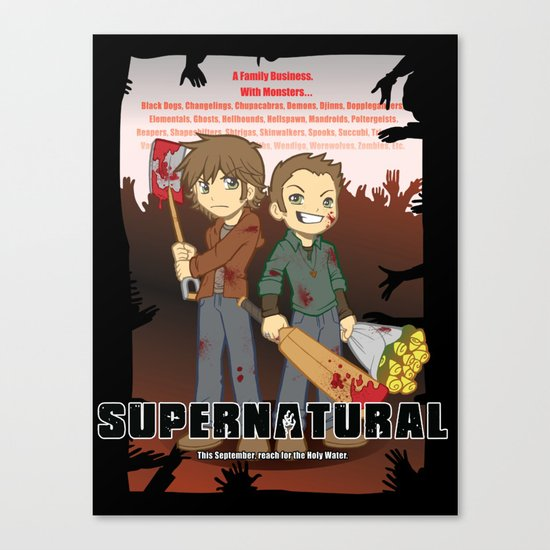 Supernatural - Goin to the Winchesters Canvas Print