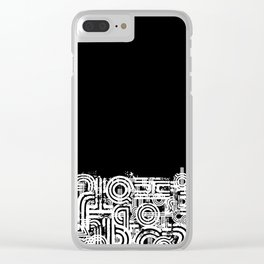 Disorganized Speech #4 Clear iPhone Case