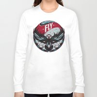 fly Long Sleeve T-shirts featuring Fly by Andreas Preis