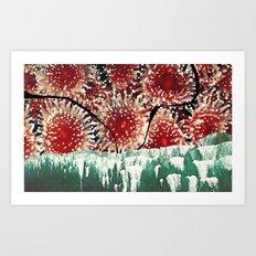 strawberry anemone Art Print