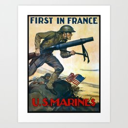 US Marines -- First In France Art Print