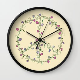 Sweet Peace Wall Clock