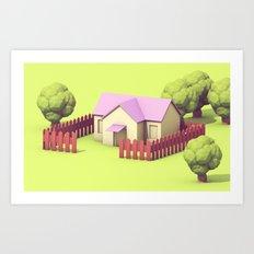 Home in Onett Art Print