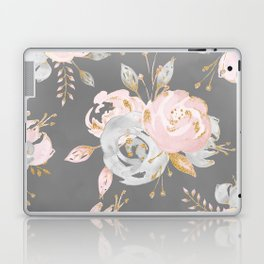 Night Rose Garden Gray Laptop & iPad Skin