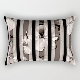 Watercolor Cherry Flowers II Rectangular Pillow