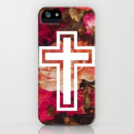 Flower Cross iPhone Case