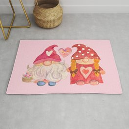 Valentine's Day with Gnome couple Rug