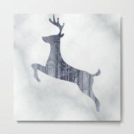 Reindeer Forest Metal Print