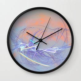 Ladybug on a to them invisible flower Wall Clock