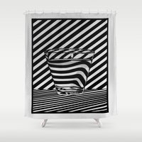 tequila Shower Curtains featuring Trippin' Tequila by Ana Lillith Bar