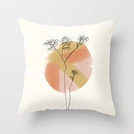 Minimal Flower Throw Pillow