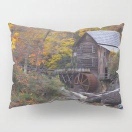 Glade Creek Grist Mill in Autumn II Pillow Sham