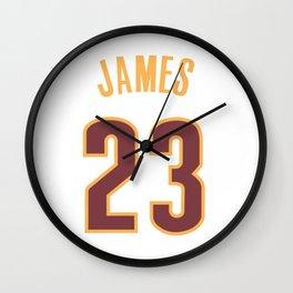 James 23 Wall Clock