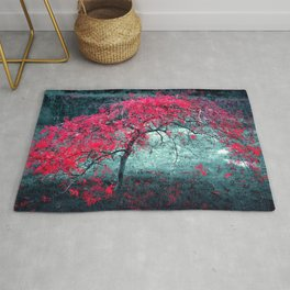 Little Lonely Red Tree Ultra HD Rug