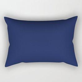 Solid Navy blue Rectangular Pillow