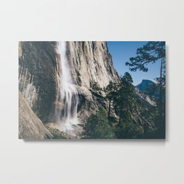 Yosemite Falls with Half Dome Metal Print