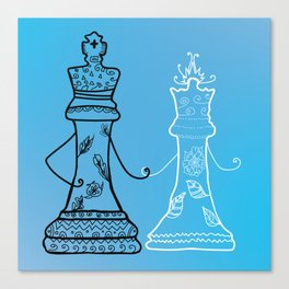 Chess King Qeen Canvas Print