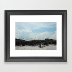 beach dunes Framed Art Print