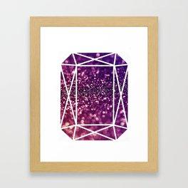 Glitter Gem Framed Art Print