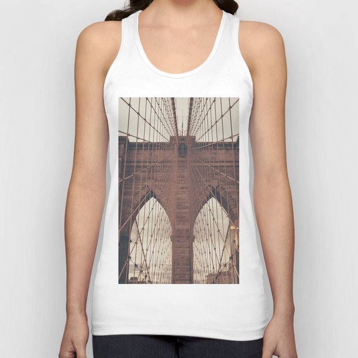 Moody Brooklyn Bridge Unisex Tanktop