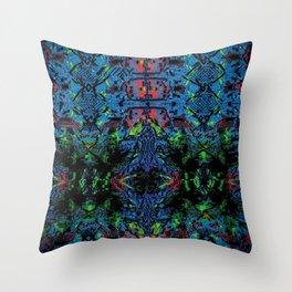 Neon Nightmare Throw Pillow