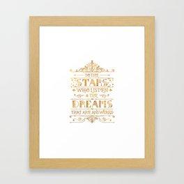 To the Stars - White Framed Art Print